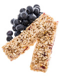 Granola Bars with Blueberries - isolated