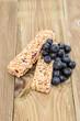Muesli Bars with fresh Blueberries