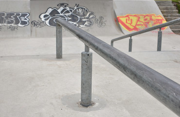 Skating track with graffity