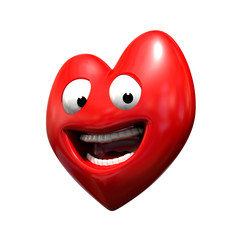 Coeur souriant 3d