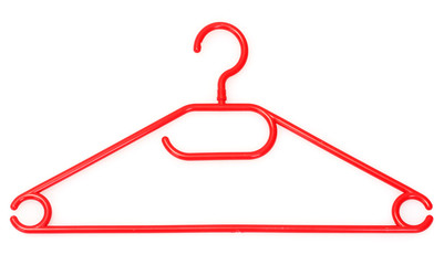plastic hanger isolated on white