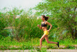 Athlete woman jogging outdoors