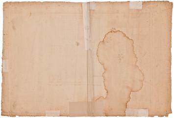 Uraltes antikes Papier ca. 300 Jahre alt