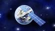 Satellit über der Erde