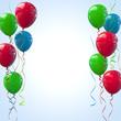 Bunte Luftballons mit Kräuselband