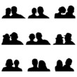 couple people vector silhouette illustration