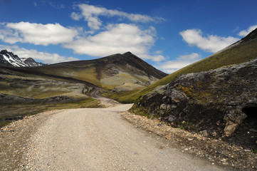 Dirt road of Iceland