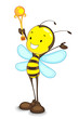 Edtiable vector of winner bee with trophy