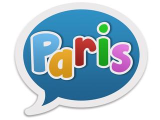 Dialogue balloon - Paris