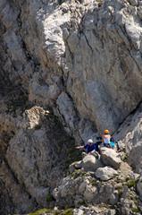 Bergsteiger im Alpstein - Alpen - Schweiz