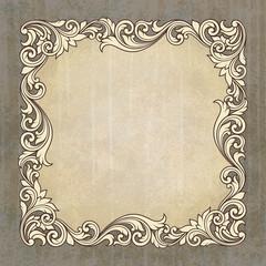 Vector vintage border frame grunge background