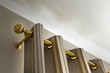 Rideau, tringle, tissu, ameublement, chrome, barre - 43686954