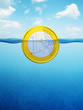 afloat euro coin