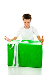 boy with gift