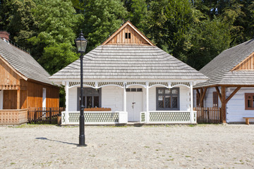 Old traditional houses - open air museum in Poland