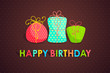 vector illustration of set of colorful gift for happy birthday