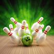 Bowling Strike limettengrün