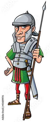 Cartoon Roman Legionary