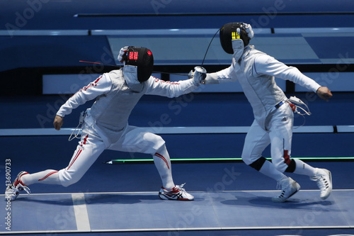 Fotobehang Vechtsporten Escrime