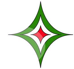 Stella tricolore italia