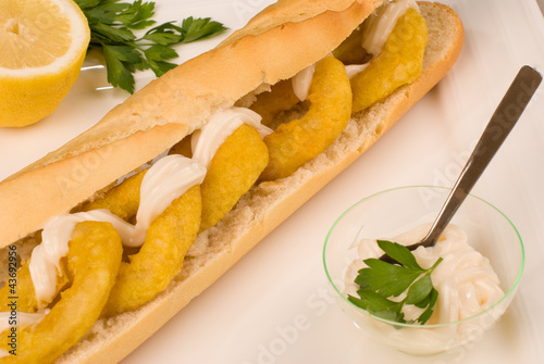 Squid bocadillo