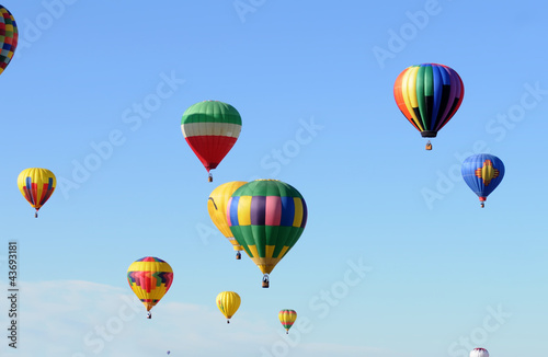 Poster Ballon Hot air balloons in flight