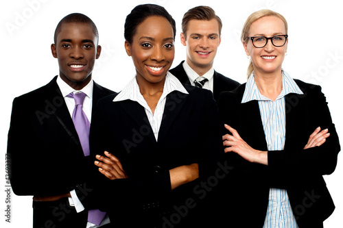 Portrait of team of business associates