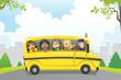 Detaily fotografie Kids in school bus