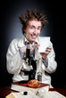 Funny young scientist