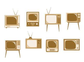 Set of retro TV