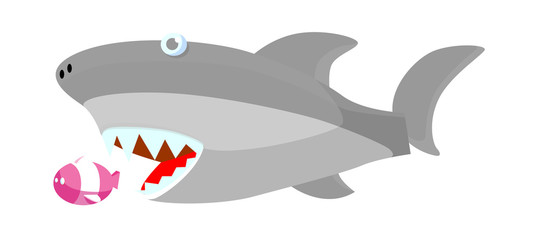 vector icon shark