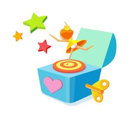 vector icon music box