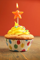 Cupcake with star candle