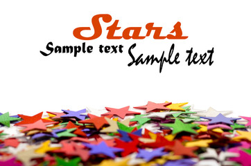 Colored stars background for your text on photo, and other.