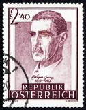 Postage stamp Austria 1957 Dr. Julius Wagner-Jauregg, Psychiatri poster