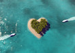 canvas print picture - Heart Shaped Paradise Island