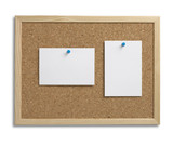 cork bulletin notice board copy space with clipping path