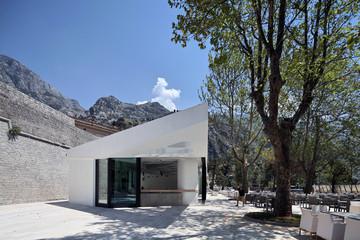 details of modern Lounge Bar in Kotor Montenegro