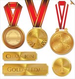 Vector illustration of gold medal