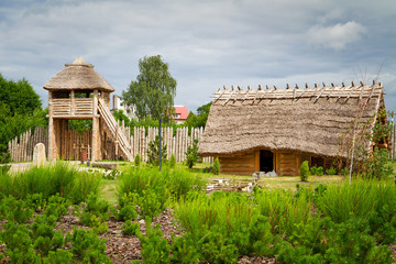 Ancient trading faktory village in Pruszcz Gdanski, Poland