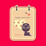New year card with snake (vector version)
