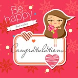 Greeting card design (vector version)