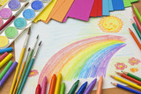 Fototapety Child's drawing