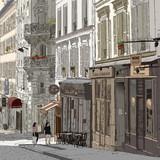 Fototapety Street in Montmartre