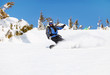 Snowboarder on a mountain slope