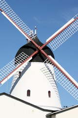 Wind mill in Gudhjem on the Danish island Bornholm
