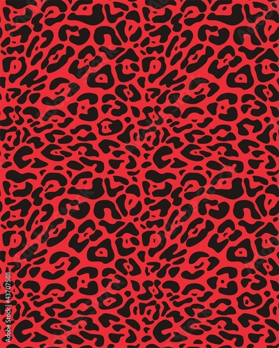 Seamless vector leopard fur