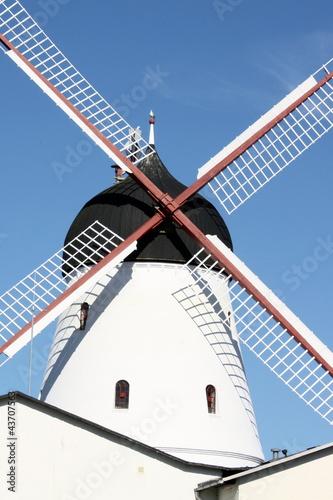 Wind mill in Gudhjem on the Danish island Bornholm