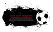 Grunge Soccer Ball Background