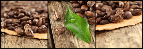 coffee decoration with one leaf